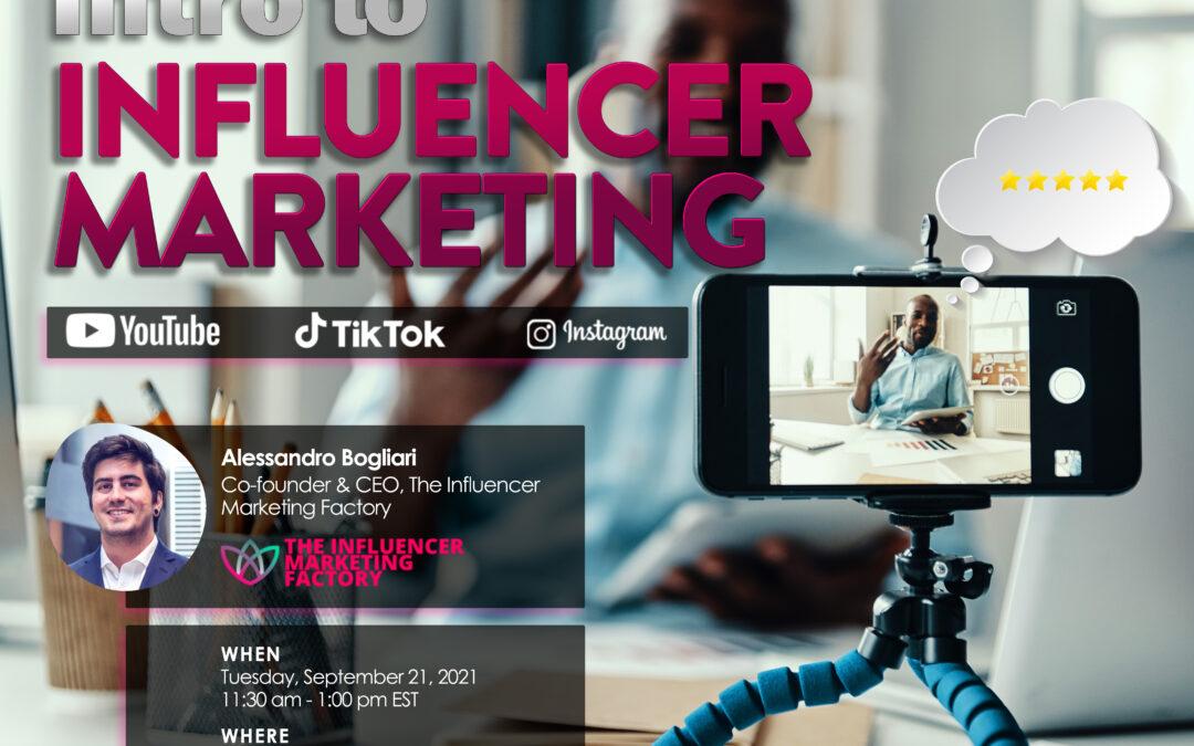 Intro to Influencer Marketing Luncheon with Alessandro Bogliari (New York, NY)